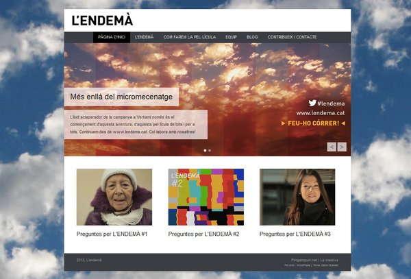 Donem per acabada l'activitat a Verkami. Passem a www.lendema.cat!