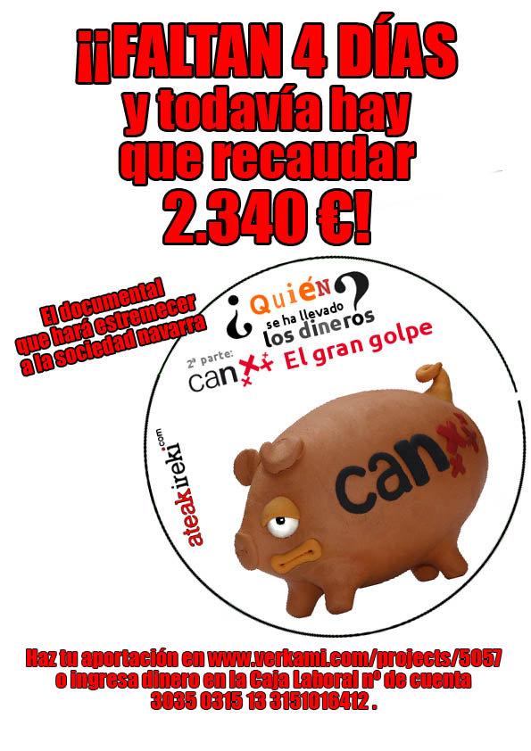 """#CAN A falta de 4 días, todavía no se han logrado los 10.000 euros necesarios para """"El Gran Golpe"""""""
