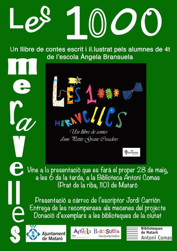 """Presentació del llibre """"Les 1000 Meravelles"""""""