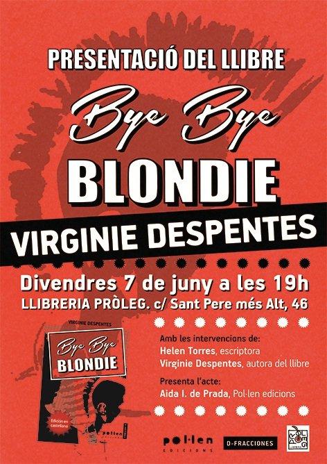 Presentación de Bye bye Blondie con Virginie Despentes